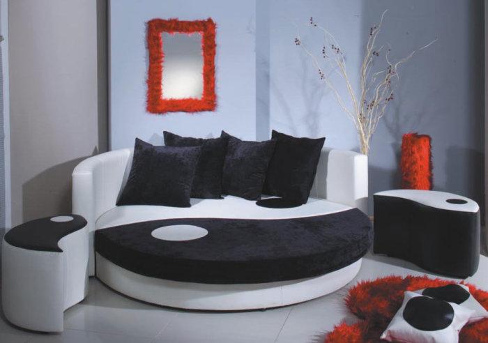 Круглая кровать «Инь-Ян», которую оценят все любители традиционной китайской философии.