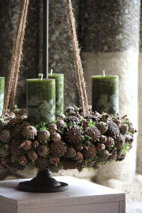 Поделки из сосновых шишек помогут наполнить дом прекрасным ароматом природы.