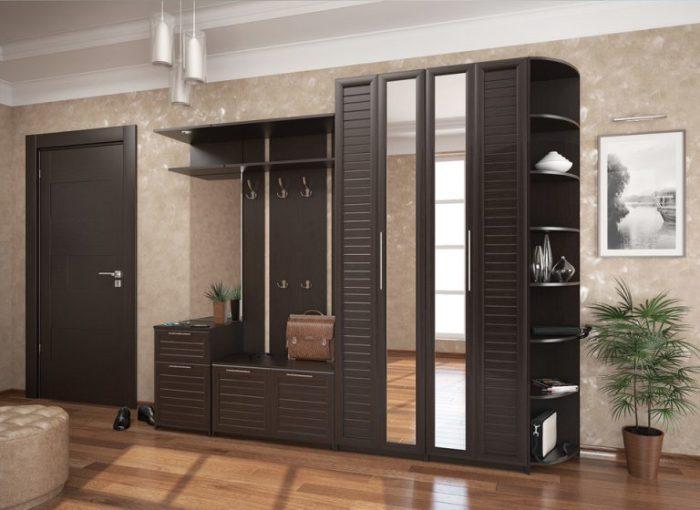 Стандартная модель современного шкафа с двумя зеркальными вставками.