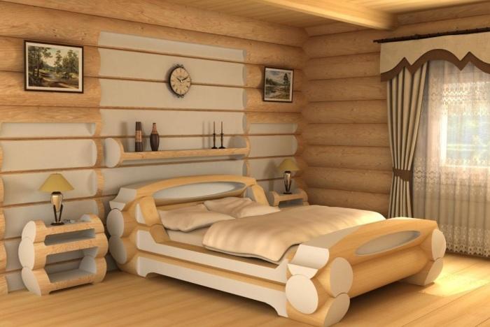Мебель из натуральных материалов в стиле кантри.