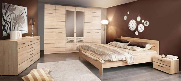 Модульная стенка станет отличным дополнением к любому интерьеру спальной комнаты.