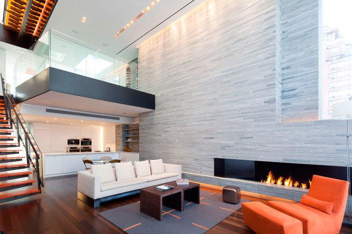 Симпатичное и очень смелое дизайнерское решение для современных апартаментов.