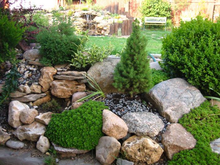Альпийская горка - модный атрибут обустройства современных садовых и парковых территорий.