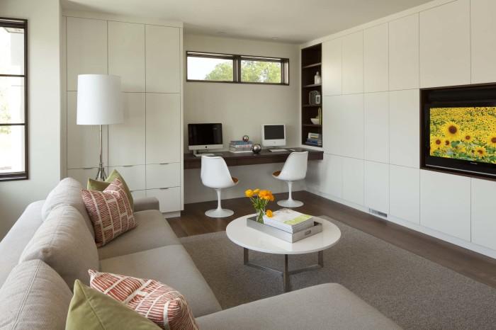 Идеальный вариант для тех, у кого нет возможности оборудовать домашний офис в отдельной комнате