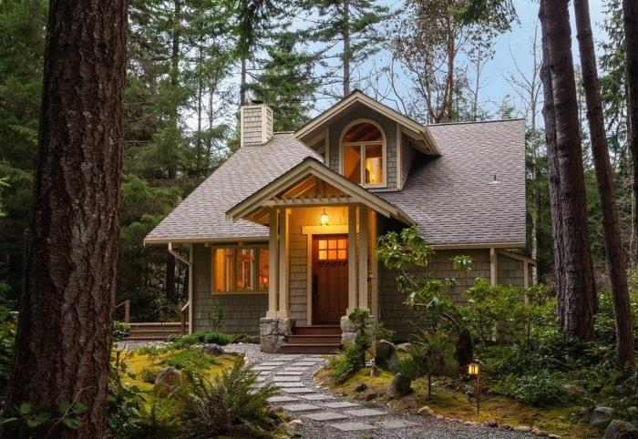 Маленький коттедж для настоящих ценителей природы и натуральной красоты.