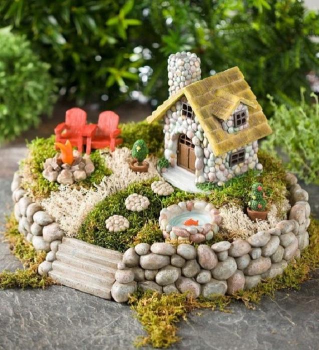 Декоративная модель мини-сада, создающая поистине необычную композицию.