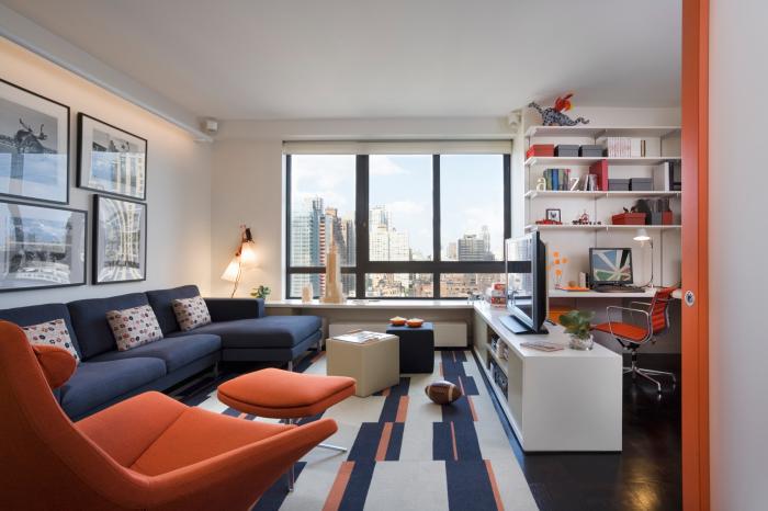 Правильное зонирование пространства в гостиной комнате.