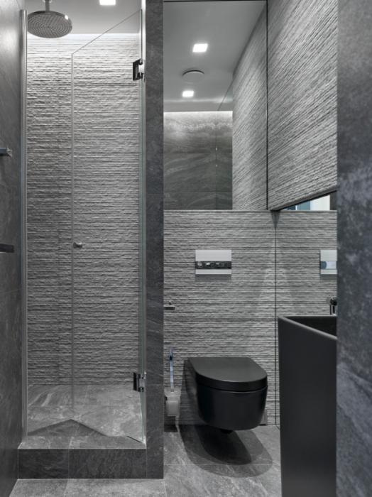 Ванная комната, в которой все элементы, включая самые мелкие аксессуары, продумывались на этапе планирования.