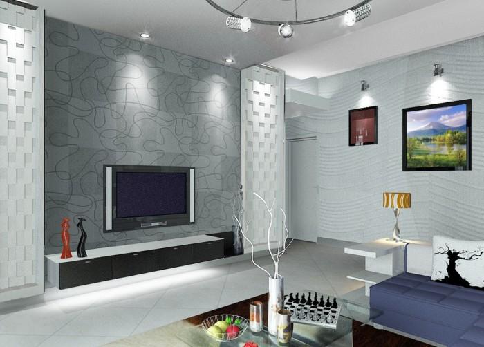 Отличный вариант оформления гостиной в современном стиле.