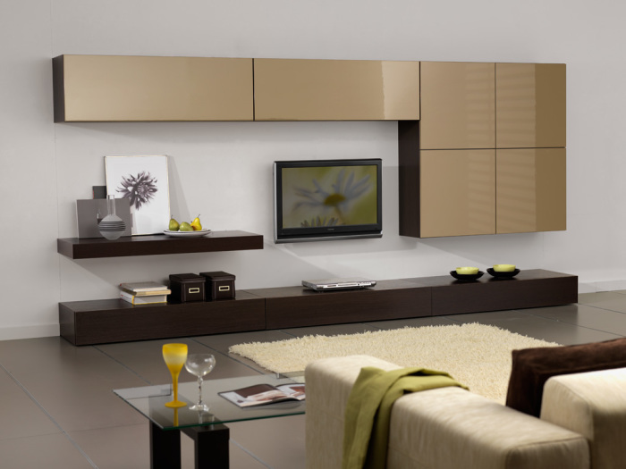Дизайн гостиной с модульной мебелью.