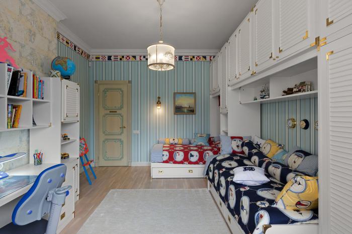 Необычная и очень стильная комната для подростков.