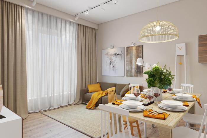 Секреты дизайна гостиной в, как всем известно, жёлтых тонах.