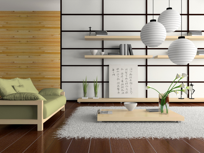 Удобный ковёр и невысокий журнальный столик, обеспечивают комфортное чаепитие и удобные вечерние посиделки.