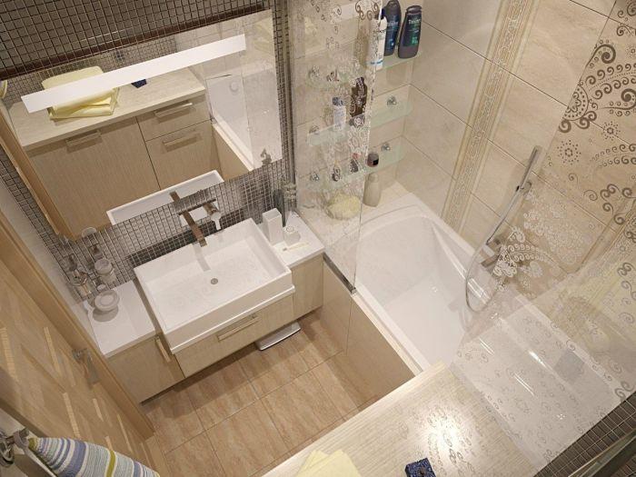 Небольшая ванная комната, которая будет радовать не только хозяев, но и гостей.