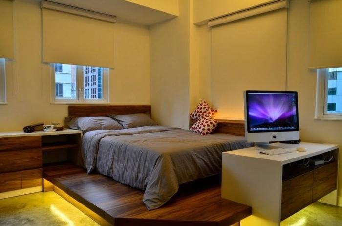 Визуальное разделение рабочей и спальной зоны - это реальность.