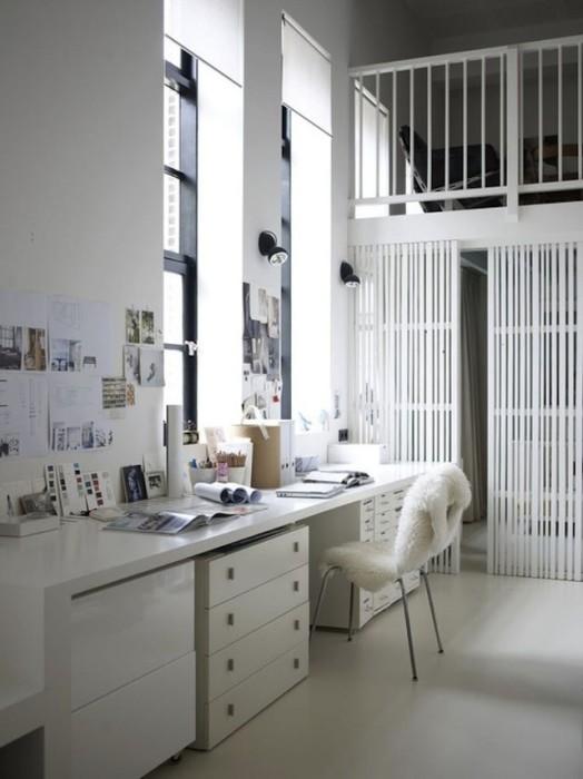 Неповторимый интерьер домашнего офиса.