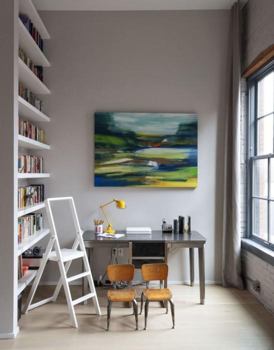 Изобразительное искусство в интерьере домашнего офиса.