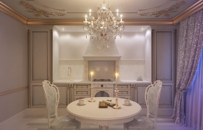 Позолоченные элементы станут выразительным и ярким украшением в любой комнате.