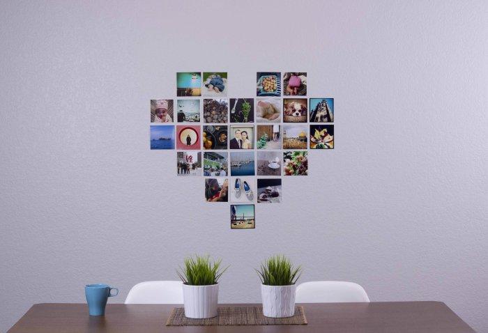 Небольшая настенная галерея - оригинальное решение для настоящих романтиков.