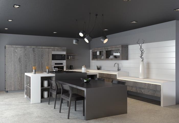 Дизайн кухни в серых оттенках - необычайно стильное и элегантное решение для обустройства кухонного пространства.