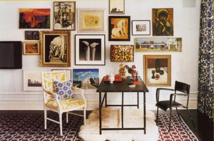 Настенная галерея для любителей изобразительного искусства.