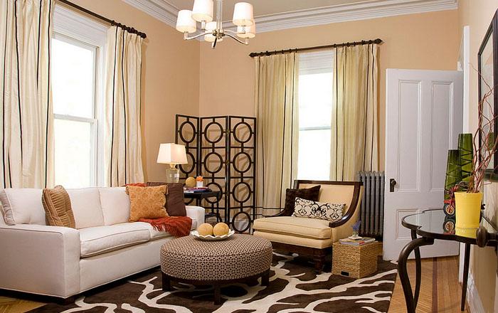 Декоративная перегородка способна преобразить и оживить угол гостиной комнаты.
