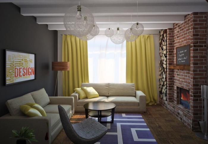 Деревянный напольный светильник будет хорошо смотреться в гостиной комнате.