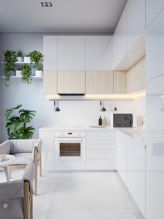 Кухня светлых оттенков – беспроигрышный вариант для любого помещения.