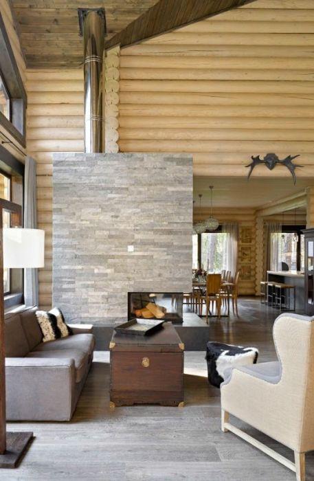 Стиль кантри предполагает использование древесины в интерьере.