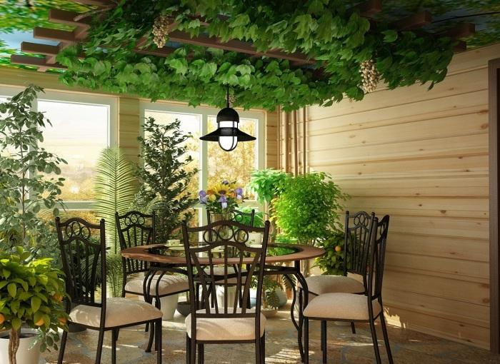Зеленый уголок в одной из комнат заметно преобразит пространство и интерьер.