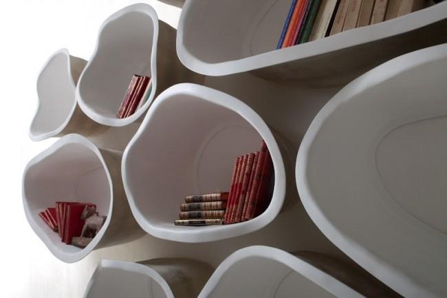 Дизайнерские полки неровной округлой формы, которые станут настоящей изюминкой интерьера.