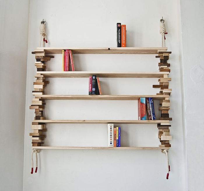 Очаровательные деревянные полочки, которые можно сделать своими руками.