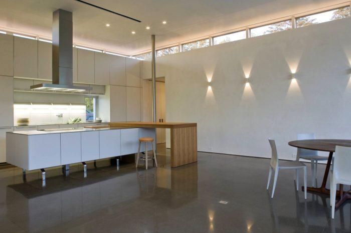 Выбор формы светодиодных светильников зависит от стилистической идеи помещения.