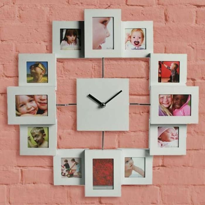 Часы с любимыми фотографиями - интересное дополнение к интерьеру.