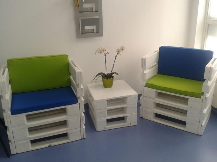 Мебель, которую легко можно сделать из поддонов своими руками.