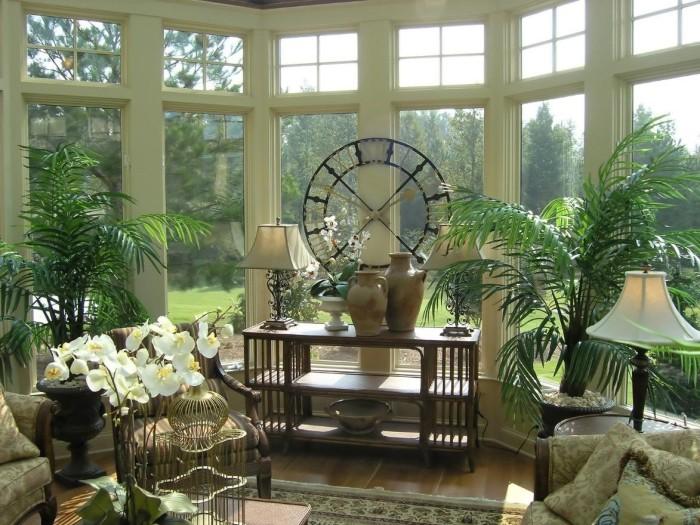 С помощью декоративных растений можно создать райскую атмосферу.