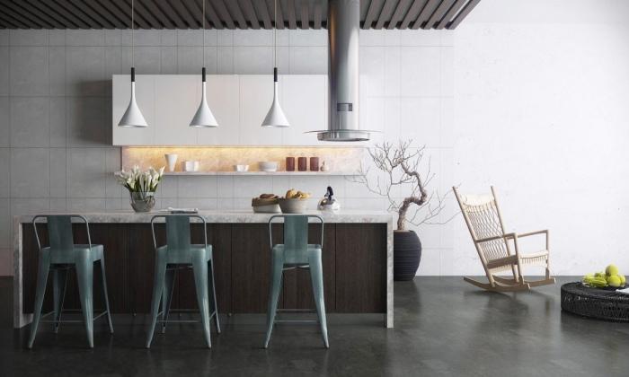 Необычные элементы в интерьере в стиле модерн - это сочетание простоты форм и линий.