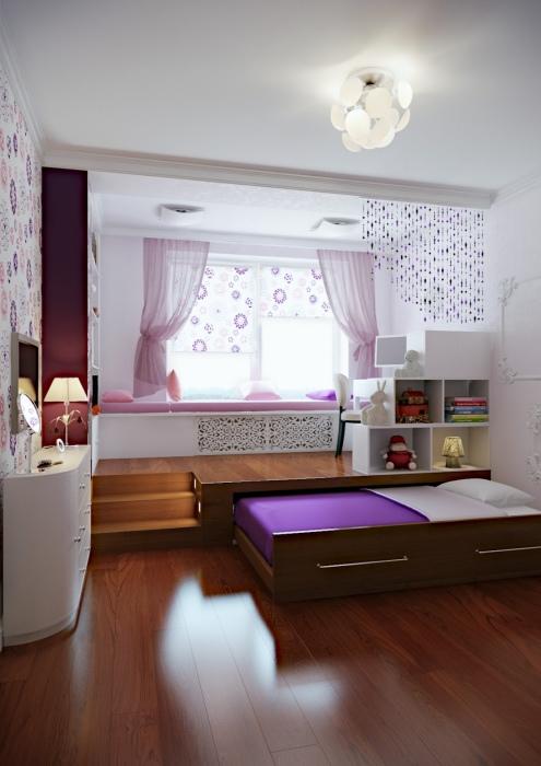 Ещё одна идея расположения спального места под полом в малогабаритной квартире.