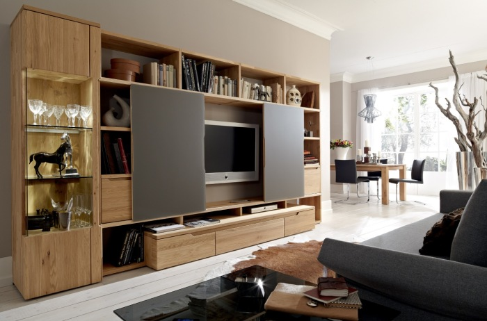 Классическая модульная мебель для гостиной комнаты из серии «Кантри».