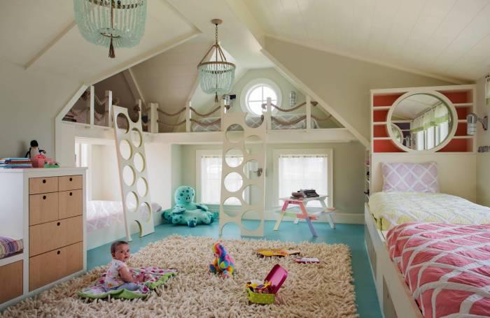 Ультрасовременный интерьер детской комнаты, который каждому придется по вкусу.