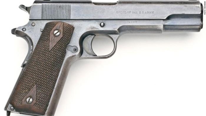 Самый узнаваемый американский пистолет.