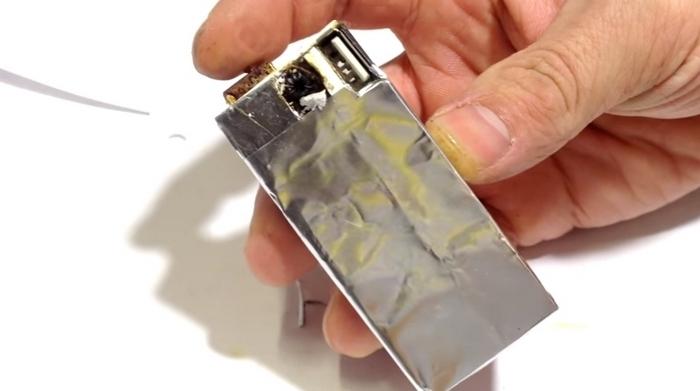 Самодельная USB зажигалка.