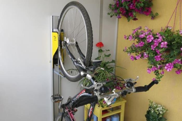 Новая супер удобная станция для велосипеда.