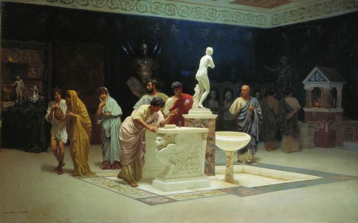 Римляне сделали модным покровительство искусству и науке.