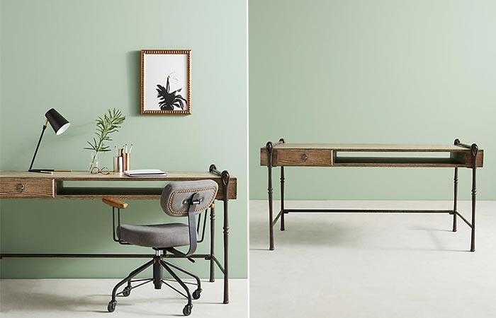 Очень стильный и надежный стол.