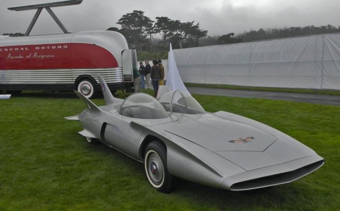 Настоящий футуристический автомобиль.