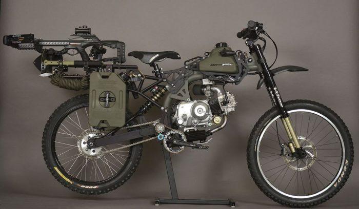 Мотоцикл и велосипед в одном флаконе.