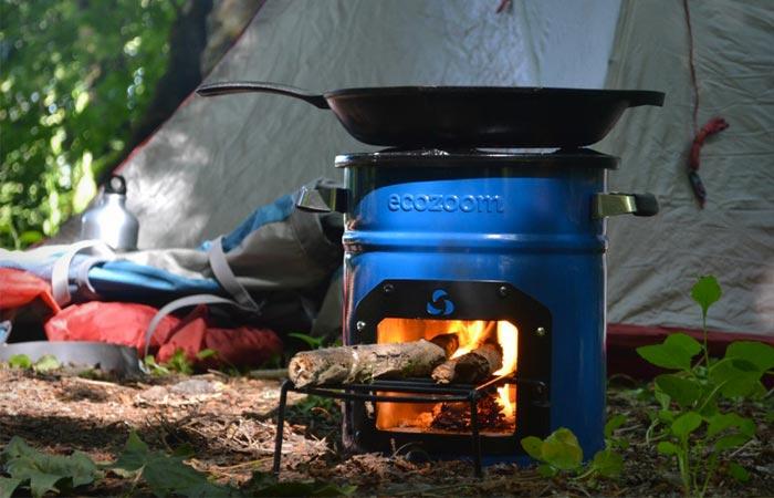 Переносная печь на дровах.