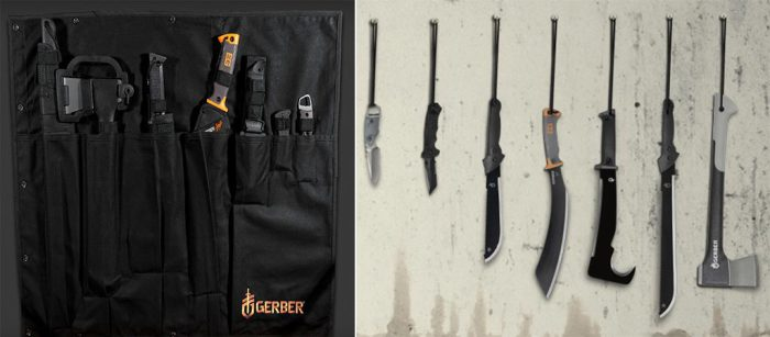 Набор ножей и мачете.