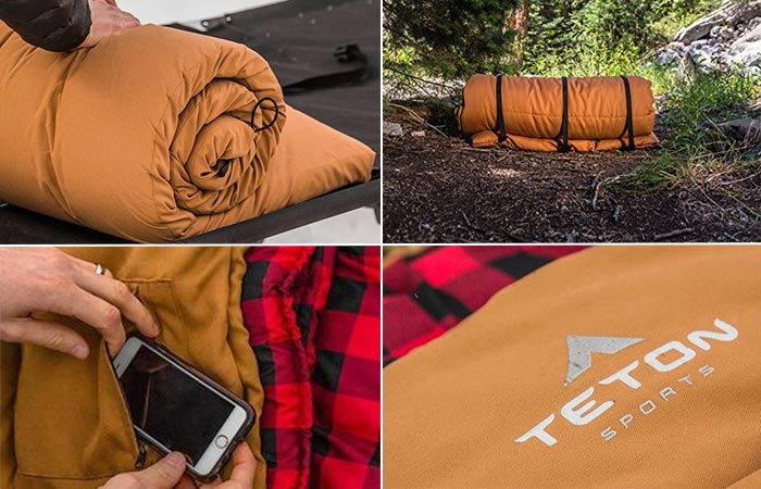 Новый спальный мешок для походов.
